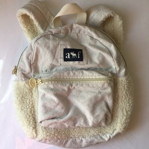 Abercrombie & fitch mini backpack with fur